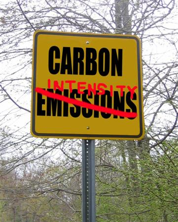 Carbon Intensity not Emissions