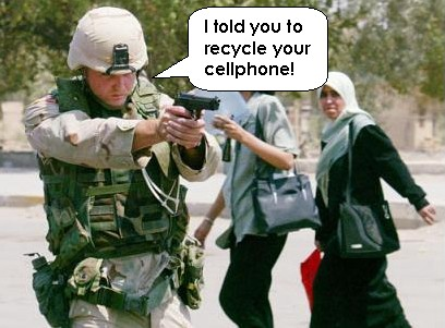 Soldier Cellphone