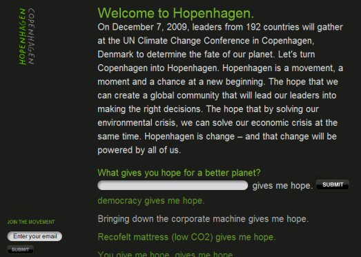 hopenhagen message