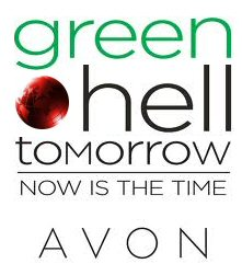Hello Green Tomorrow Avon logo