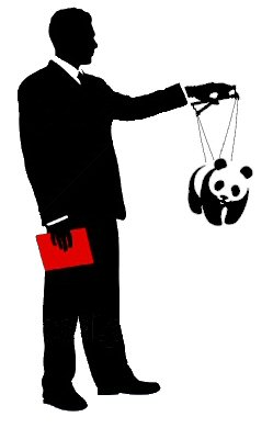 WWF strings businessman panda
